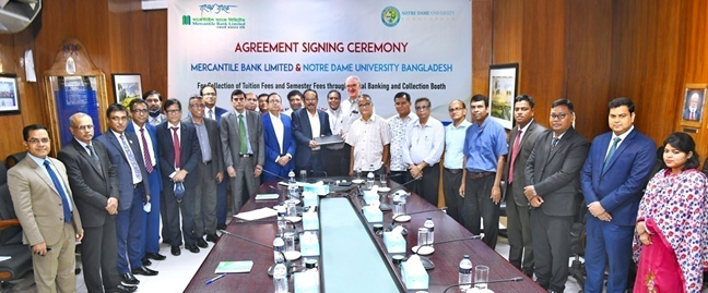 Agreement with Notre Dame University Bangladesh